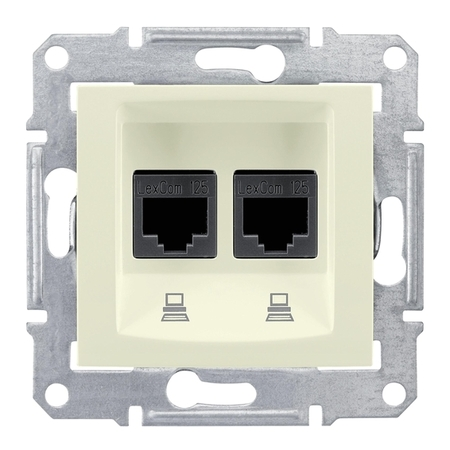 Розетка 2xRJ45 Cat.5 Schneider Electric SEDNA, бежевый