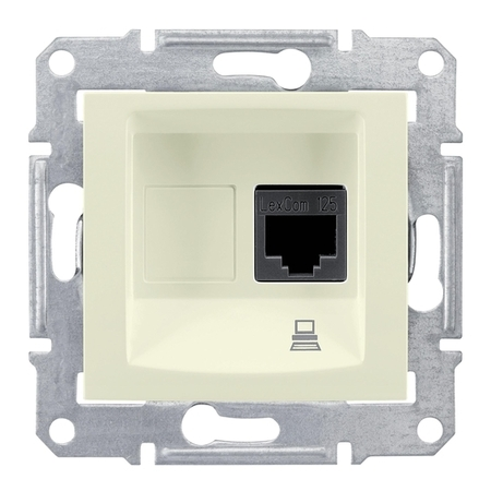Розетка 1xRJ45 Cat.5 Schneider Electric SEDNA, бежевый