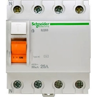 УЗО Schneider Electric Домовой 4P 25А 30мА (AC)
